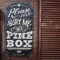 "morningtype:  No Entry Design - ""Pine Box"""