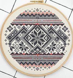Winterliches Muster - Stickmuster via Makerist.de