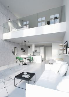 Loft is more and more popular among families due to the hign housing price and limited living space. Loft bedrooms are common to the smaller dwellings.