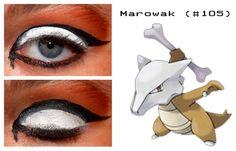 Marowak inspired make up Pokemon Makeup, Pokemon Halloween, Makeup Ideas, Halloween Face Makeup, Make Up, Inspired, Movie Posters, Facepaint Ideas, Film Poster