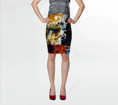 fitted skirt, abstract painting, printed skirt, patterned, teen, gifts for her, unique design, wearable art, art to wear, Vibrant print, #etsy