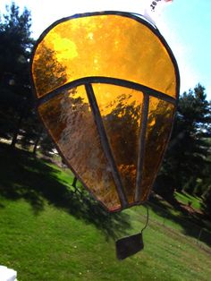36e16929252 Items similar to Up Up and Away (sectioned) Hot Air Balloon Sun Catcher  Stained Glass on Etsy