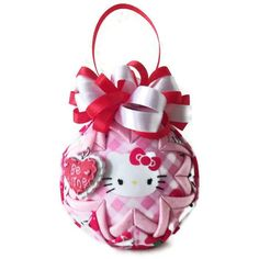 BE MINE Valentines day pink red Hello Kitty by PinKyJubb on Etsy, $16.00