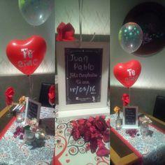 Cenas románticas, aniversarios, y cumpleaños