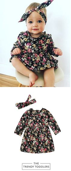 Baby Girl Fashion Cl - November 18 2018 at Toddler Girl Dresses, Toddler Outfits, Kids Outfits, Infant Dresses, Organic Baby Clothes, Cute Baby Clothes, Coco Moda, Baby Girl Fashion, Kids Fashion