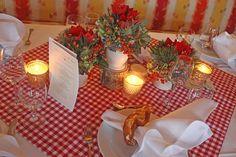 Brezen als Serviettenringe, bayerische Hochzeit, wedding in Bavaria, pretzel napkin ring