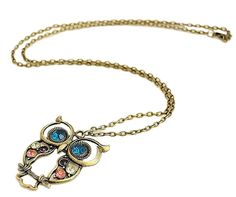 Get This Owl Pendant Necklace FREE! Limited Stock so Grab Yours Now. Trendy Long Chain Owl Pendant Necklace with Rhinestones. Owl Necklace Vintage Style Bronze. https://redd.it/4qlo1t