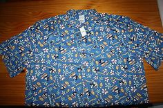 Brand New Disney Mickey Minnie Hawaiian Aloha Shirt Hawaii XL with tags