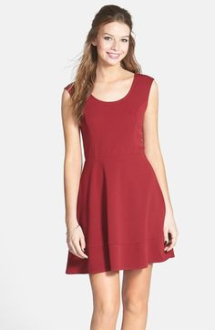 Socialite Textured Sleeveless Skater Dress (Juniors) available at #Nordstrom