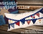 Patriotic Bunting Pillow