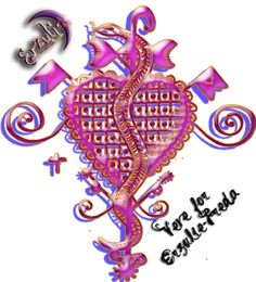 Veve for the namesake of our store, Mistress Erzulie-Freda, the Lwa of Love, Passion, Beauty & Prosperity...this Veve is specific to Anna, the owner of the store specifically all Veves are her original artwork and drawings too...