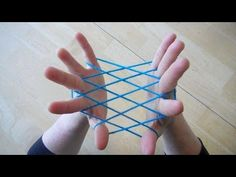 Hammock / Fishnet string figure - Step by step - cats cradle