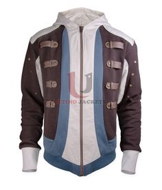 Assassin's Creed Black Flag (Edward Kenway) Jacket  Jacket Features:   Outfit type: Cotton Gender: Male Color: Same As Picture Front: Front Zip Closure Collar: Hooded Collar Lining: Viscose Lining Cuffs: Rib-Knit Cuffs