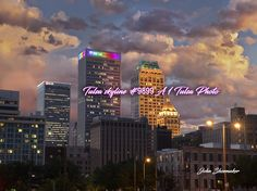 Tulsa downtown skyline spectacular view With gorgeous clouds Pictures For Sale, Great Pictures, Canvas Pictures, Stock Pictures, Photography Degree, Image Photography, Skyline Image, Office Decorations, Tulsa Oklahoma