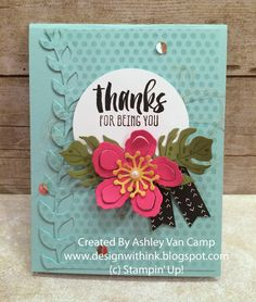 Well this will be a fun blog post!  I am applying to be a display stamper at Stampin' Up!'s On Stage event in April.  So I get to put my sub...