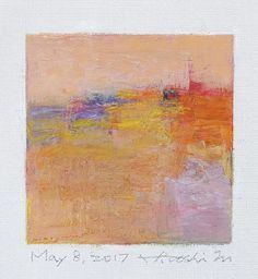 May 8 2017 Original Abstract Oil Painting 9x9 painting 9