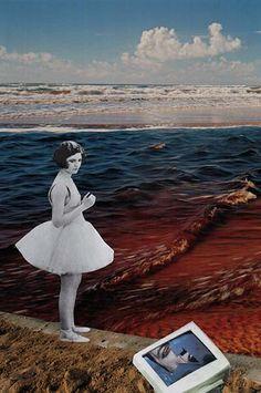 Noyade, 2017. Collage papier de Zophie Zyphon