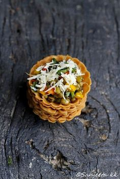 Healthy Papdi Chaat Tarts. #indian #snacks