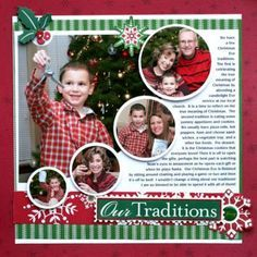 Christmas Layout | scrapbook layouts