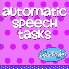 These automatic speech tasks provide a quick way to help someone produce spontaneous speech. Good for quick warm up! Speech Language Therapy, Speech Language Pathology, Speech And Language, Speech Therapy Activities, Language Activities, Cognitive Activities, Cognitive Therapy, Occupational Therapy, Childhood Apraxia Of Speech