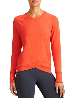 Criss Cross Sweatshirt - Your favorite sweatshirt gets modern with a crossover front hem and super soft French terry fabric.