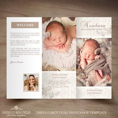Newborn Photography Trifold Brochure Template by IndigoBoutique