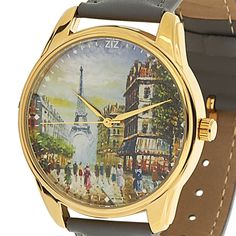 Eiffel Tower Wrist Watch Women Paris Leather Band Quartz Watches Gifts for Mom #ZIZ #Fashion