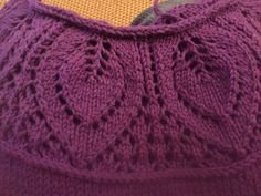 Diy Crafts - -Ravelry: Project Gallery for 14 Leaf Yoke Top pattern by Angela Hahn Baby Cardigan Knitting Pattern Free, Crochet Baby Cardigan, Baby Knitting Patterns, Knit Crochet, Hood Pattern, Collar Pattern, Vintage Knitting, Lace Knitting, Coat Patterns