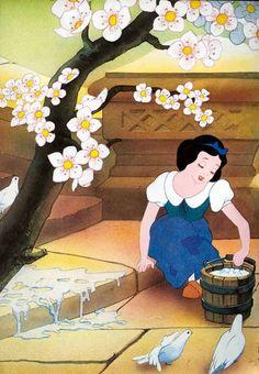 Snow White scrubbin' those steps