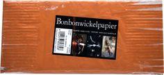 Bonbonwickelpapier Orange Aluminium ca. 10 Blatt