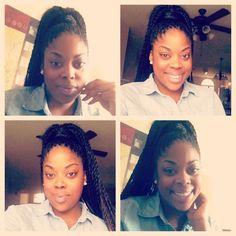 High ponytail with Senegalese twist
