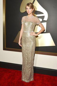 Taylor Swift Las mejores vestidas de los Premios Grammy 2014