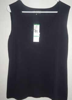 Jones New York women's knit top size 0X nwt black classic sleeveless #JonesNewYork #KnitTop #Career