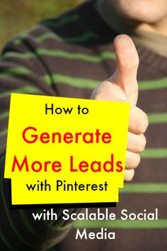 Find out how to use Pinterest to Generate more leads to your business. http://www.mcngmarketing.com/episode20 with @scalablesocial