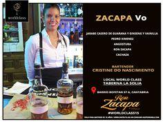 Zacapa VO: Receta presentada por Crstine Do Nascimiento para la competición de coctelería #WorldClass2015 con Ron Zacapa. Podrás probarla en Barrio Bofetán, 57, Cantabria