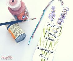 step 5 emphasize the details of the bookmark with acrylic colors