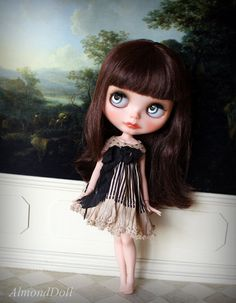 ON HOLD OOAK Custom Blythe doll hand painted art by AlmondDoll