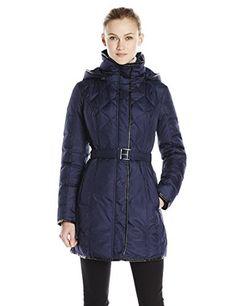 Kensie Women's Quilted Belted Down Coat, Navy, X-Large kensie http://www.amazon.com/dp/B00LD0VCZS/ref=cm_sw_r_pi_dp_nHUzub15HKXN2