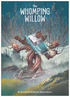 See your favorite 'Harry Potter' and 'Game of Thrones' locat.-See your favorite 'Harry Potter' and 'Game of Thrones' locations brought to life Whomping Willow - Harry Potter Fan Art, Poster Harry Potter, Fans D'harry Potter, Images Harry Potter, Harry Potter Books, Harry Potter Universal, Harry Potter Fandom, Harry Potter World, Potter Facts