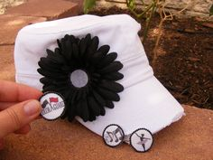 Color guard mom hat dance mom hat band mom hat Three by CapsbyKari detachable sport mom hat that lets you switch out the sport emblems as you need them for each child's sports. Be unique!  Choose hat style Choose flower color Choose sports YOU need Personalize with a name on the hat!