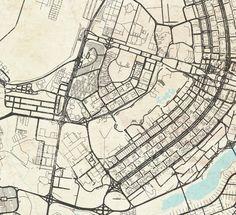 BRASILIA Canvas Print Brasilia Brasil Vintage map Brazil Vintage map City Poster Horizontal Large Wall Art Gift decor old map Travel gift City Skylines Game, City Layout, City Sketch, Map Artwork, City Architecture, Modern City, City Maps, Environmental Art, Urban Planning