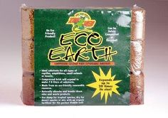 Eco Earth 3 Brick Zoo Med - Eco Earth is a compressed coconut fiber that is ideal for burrowing animals. It can be used to increase humidity in an enclosure. Each Eco Earth brick makes liters of substrate