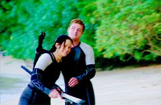 Joshifer behind the scenes of Catching Fire