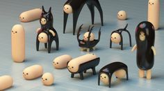Jun seo Hahm — I wish I could make this kind of modular toy. Toy Art, Paperclay, Vinyl Toys, Designer Toys, Wood Toys, Ceramic Art, Character Design, Simple Character, 3d Character
