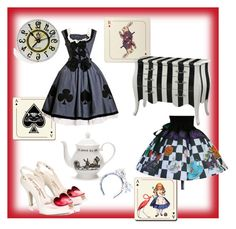 """Queen of Hearts"" by elliekitcher ❤ liked on Polyvore featuring Vivienne Westwood, Mrs Moore's Vintage Store, Avenida Home and Olympia Le-Tan"