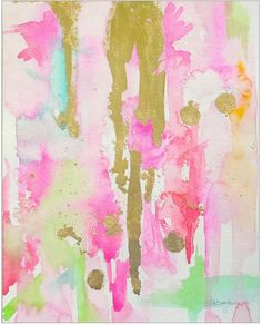 Pink Abstract Art Print Giclee Reproduction by LimezinniasDesign 55