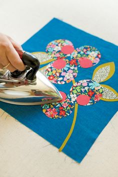 Make this applique cushion with @Anna Totten Totten Joyce, read how to on the Liberty Craft Blog