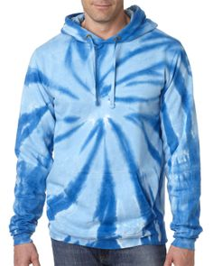 854 GD Tie-Dye Sweatshirt Hood, 854 Gildan Tie-Dye Adult Pinwheel Hooded Sweatshirt Tie-dye style with a twist at Gotapparel.com.