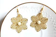 Ohrringe - ✼ Blumenelfe ✼ Ohrringe - ein Designerstück von LiAnn-Versand bei DaWanda