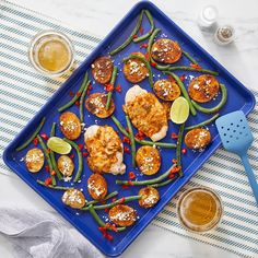 Recipe: Sheet Pan Cheesy Jalapeño Chicken with Mexican Potatoes & Green Beans - Blue Apron